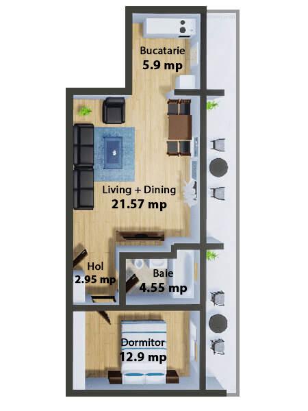 Apartamente Mamaia Nord | The Signature Promenada Apartament Budapesta