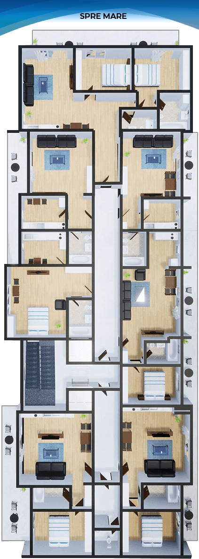 Apartamente Mamaia Nord | The Signature Promenada Etaj 1 A