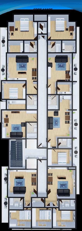 Apartamente Mamaia Nord | The Signature Promenada Etaj 1 B
