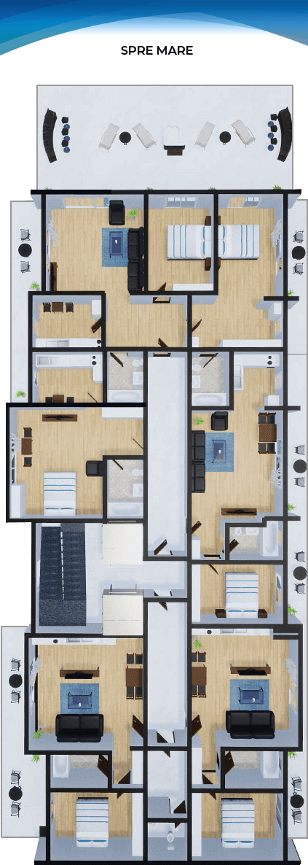 Apartamente Mamaia Nord | The Signature Promenada Etaj 7 A