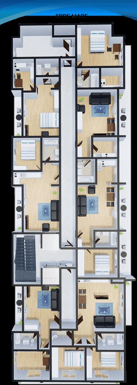 Apartamente Mamaia Nord | The Signature Promenada Parter B
